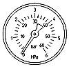 8360-00 Манометр гидравлический